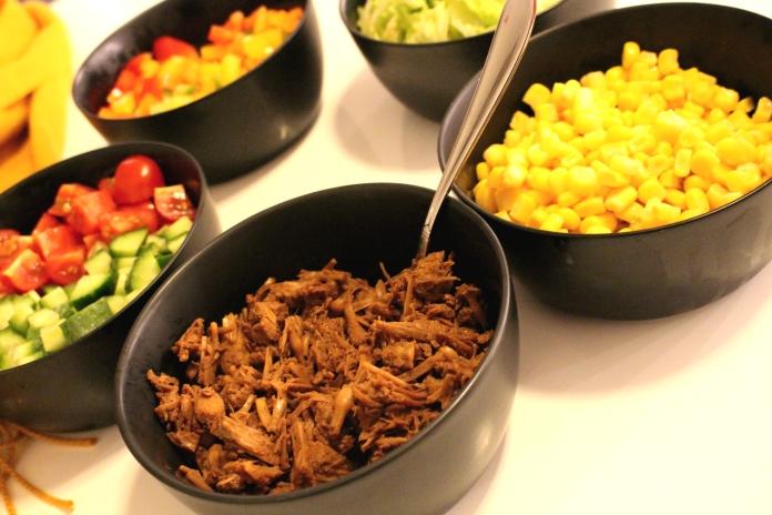 Jackfruit tacos to serve side view
